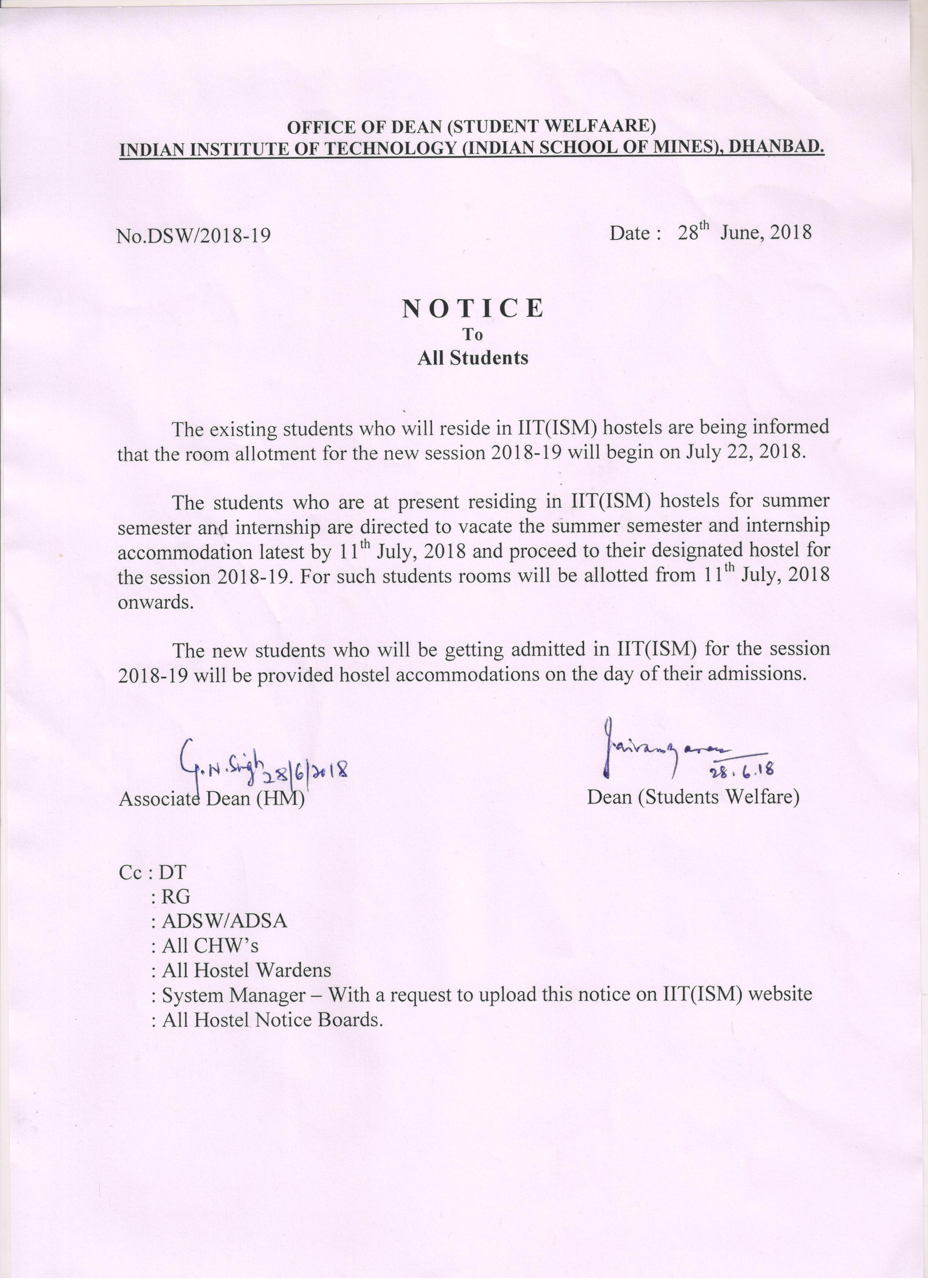 Iit ism dhanbad indian institute of technology indian school 162 notice to all students click here altavistaventures Gallery